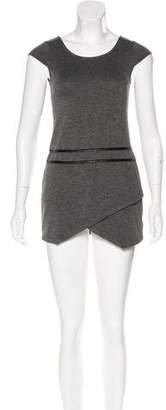 Ella Moss Girls' Vegan Leather-Trimmed Shift Dress