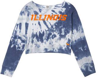 PINK University of Illinois Off-The-Shoulder Banded Bottom Crop