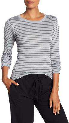 Vince Stripe Long Sleeve Rounded Hem Tee