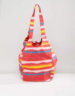 Vero Moda Block Stripe Beach Bag