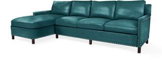 Serena & Lily Spruce Street Left-Facing Chaise Sectional with Nailheads