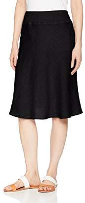 Three Dots Women's Woven Linen Mid Loose Skirt