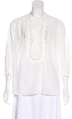 Gerard Darel Long Sleeve Button-Up Blouse