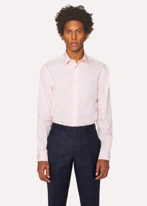Paul Smith Men's Tailored-Fit Pink Cotton 'Artist Stripe' Cuff Shirt