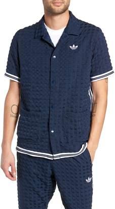 adidas Check Snap Top Short Sleeve Shirt