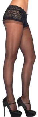Leg Avenue Women's Sheer Boyshort Pantyhose, Black, One Size
