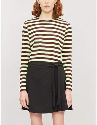 Chocoolate Pleated-side shell wrap skirt