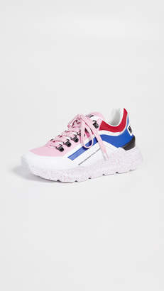 MSGM Chunky Running Lace-Up Sneakers