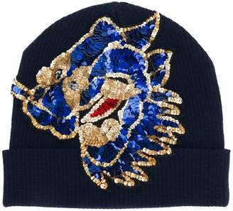 P.A.R.O.S.H. sequin embroidered beanie