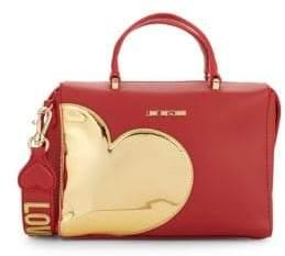 Love Moschino Gold Heart Satchel