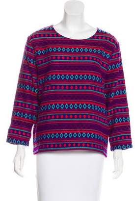 Mes Demoiselles Patterned Knit Sweater