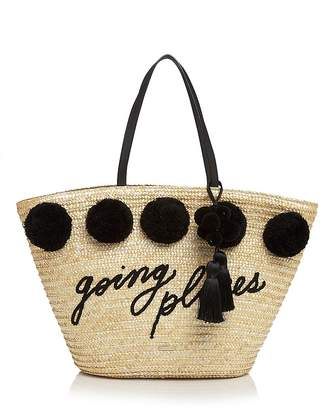kate spade new york Lewis Way Pom-Pom Large Tote $298 thestylecure.com