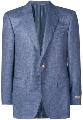 micro-check suit jacket