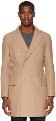 Eleventy Double Breasted Boiled Wool Topcoat Men's Coat