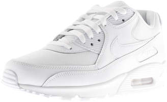 Nike 90 Essential Leather Trainers White
