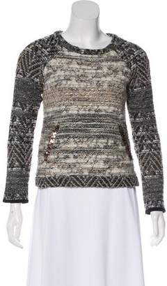 Gryphon Metallic Bouclé Knit Top