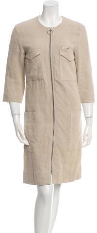 CelineCéline Linen Zip-Up Coat