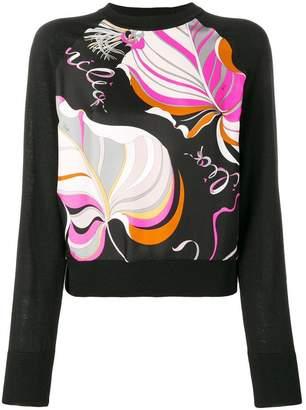 Emilio Pucci printed front jumper