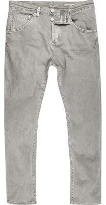 River Island Grey Chester skinny tapered jeans