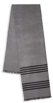 Saks Fifth Avenue Striped Silk Scarf