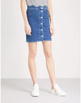 Maje Jaron stretch-denim mini skirt