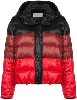 Proenza Schouler Striped Nylon Hooded Puffer Jacket