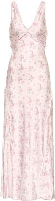 LoveShackFancy Kendall floral silk midi dress