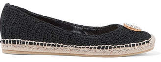 Gucci Lilibeth Logo-embellished Crocheted Cotton Espadrilles - Black