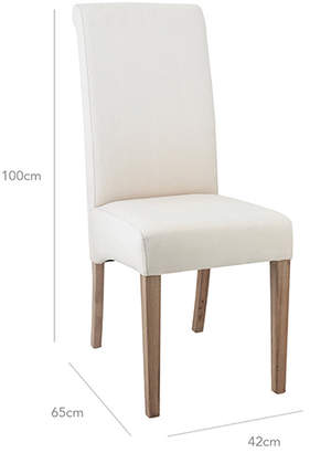 Merveilleux At OKA Direct · OKA Echo Dining Chair   Weather Oak U0026 Cotton Slip Cover