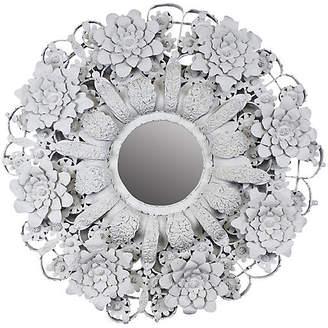 One Kings Lane Vintage Arte de Mexico Circular Tole Mirror - Castle Antiques & Design