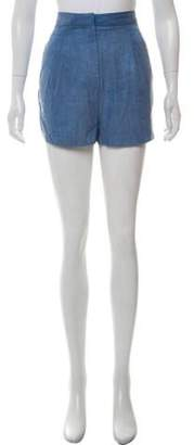 Acne Studios Tailored Chambray Shorts blue Tailored Chambray Shorts