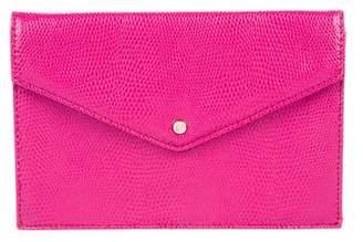 Diane von Furstenberg Embossed Leather Envelope Pouch w/ Tags