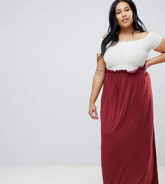 1e75ea7e9dd Asos DESIGN Curve maxi skirt with paperbag waist