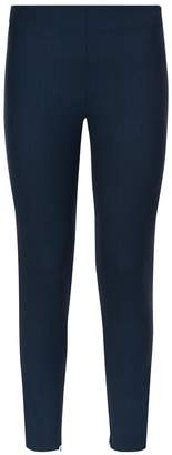 La Perla Essentials Black And Blue Pied De Poule Bi-Stretch Cool-Wool Leggings