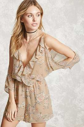 FOREVER 21+ Contemporary Floral Romper $19.90 thestylecure.com
