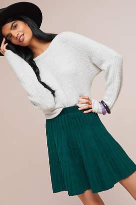 Meadow Rue Sweater-Knit Skater Skirt