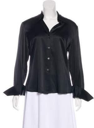 Trina Turk Silk Button-Up Top