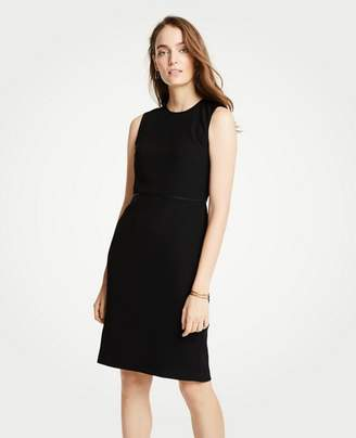 Ann Taylor Petite Doubleweave Flounce Sheath Dress