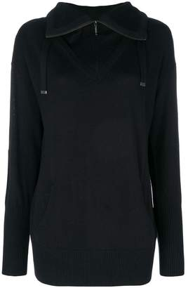 Sottomettimi zipped collar jumper