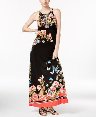 INC International Concepts Floral-Print Maxi Dress, Only at Macy's $99.50 thestylecure.com