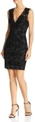 GUESS Drea Sleeveless Flocked-Lace Dress
