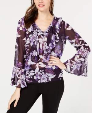 INC International Concepts I.n.c. Floral-Print Ruffle Top, Created for Macy's