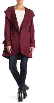 French Connection Hooded Tulip Hem Trench Coat