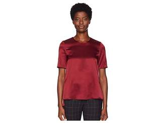 ADAM by Adam Lippes Silk Charmeuse Short Sleeve T-Shirt