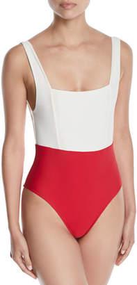 Tularosa Mack Colorblock Tank One-Piece Swimsuit