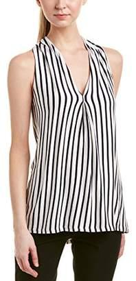 Max Studio MAXSTUDIO Women's Sleeveless Stripe Top