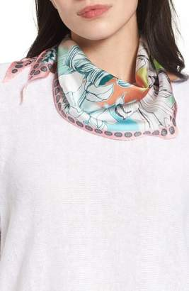 Echo Seaside Floral Diamond Silk Scarf