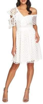 Cynthia Steffe One-Shoulder Ruffle Eyelet Dress