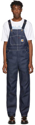 Carhartt Work In Progress Blue Rigid Denim Bib Overalls