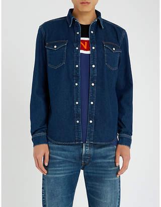 Givenchy Side-stripe regular-fit denim shirt